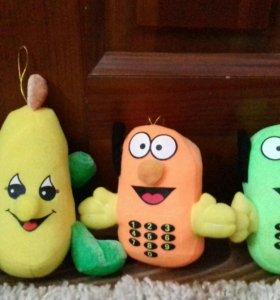 Три мягких игрушки
