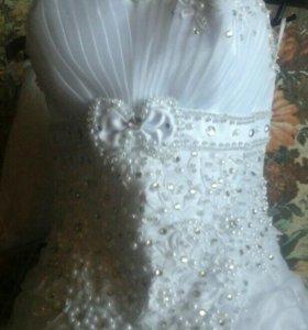 свадебное платье, туфли