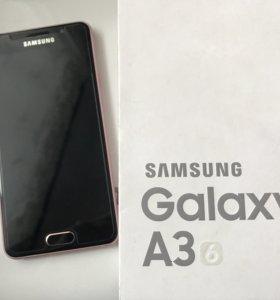 Продам Samsung Galaxy A3 2016 rose gold