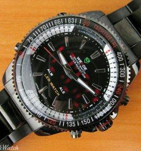 Часы Weide кварцевые мужские, чёрные в Омске