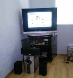 Телевизор,подставка,dvd,кинотеатр
