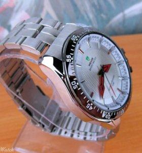 Часы Weide кварцевые мужские, белые с металлическ