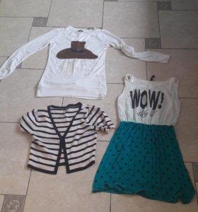 Платье балеро и пуловер