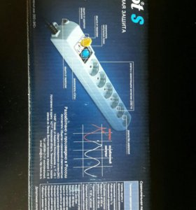 Сетевой фильтр Pilot S 1.8м (белый)