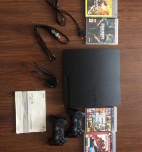 Ps3 500гб (лицензионные диски, 2 геймпада...)