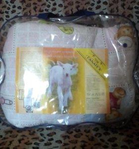 детское одеяло из овечьей шерсти lanatex новое