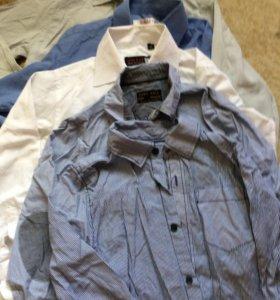 Рубашки для мальчика 128-134см(7-8лет)цена за все!