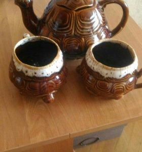 Чайник в виде черепахи +2 кружки