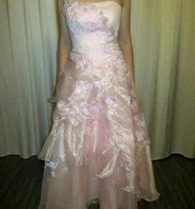 Выпускное платье (нежно-розовый цвет), р. 44-46