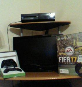 Xbox one 500G + телевизор Philips