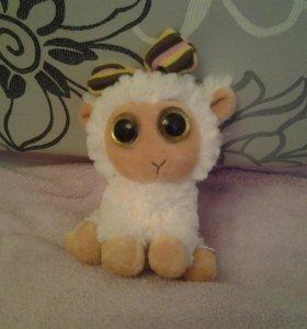 Мягкая милашка игрушка овечка-брелок