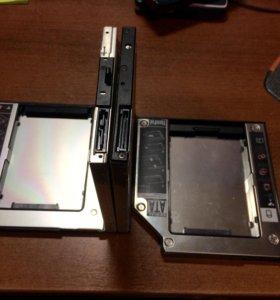 Адаптер в ноутбук установка второго HDD SSD 9,5 12