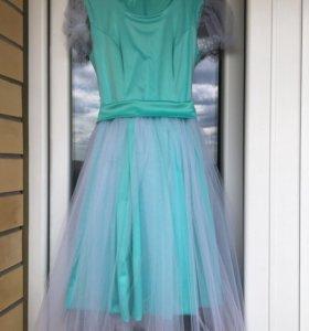 Новое пышное платье + подъюбник + чехол для платья