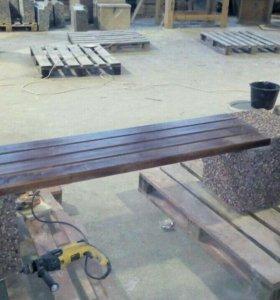Скамейка бетонная