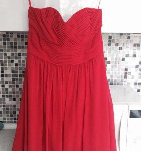 Коктейльное красное платье новое