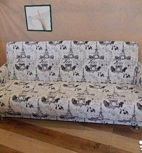 000124 новый диван книжка мешковина от фабрики