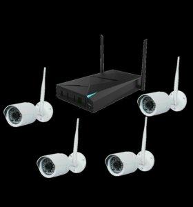 Комплект wifi видеонаблюдения с регистратором!!!