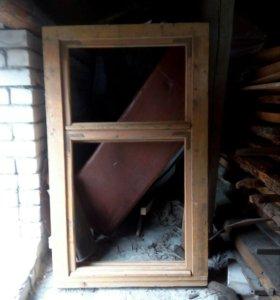 Оконная деревянная рама 145/90