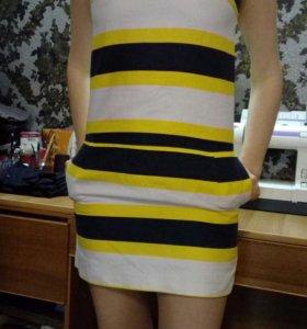 Платье oodji хб б/у в хорошем состоянии