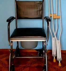 Санитарная коляска(Германия), костыли на взрослого