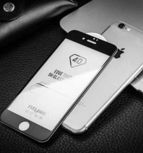 4D стекла на iPhone 6/6s/7/6Plus/7Plus