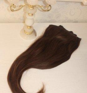 100% натуральные волосы DELUX
