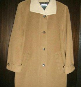 Пальто шерстяное с кашемиром (новое)