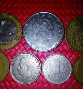 Иностранные монеты с 1980