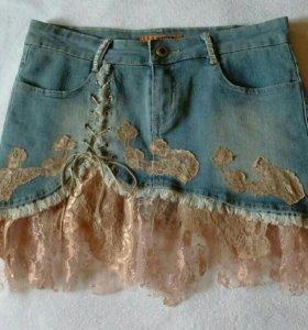 Юбка-мини джинсовая(новая)