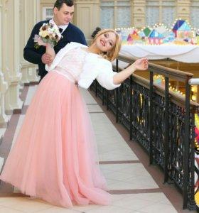 Свадебное платье, сшитое на заказ