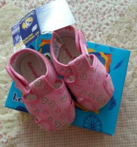 Туфельки детские текстильные