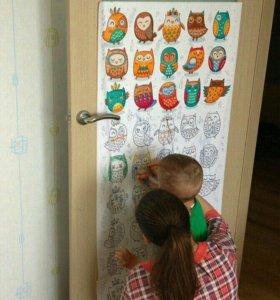 Обои раскраски и постеры для детей