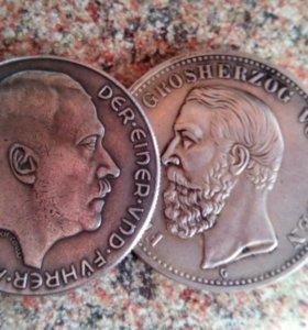 Немецкая монета 5марок 1901г.