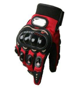 Мото перчатки Красные мотоперчатки
