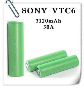 Литий-ионный аккумулятор Sony 18650VTV6 30A 3120mA