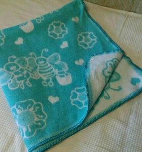 Детское байковое одеяло, плед СРОЧНО