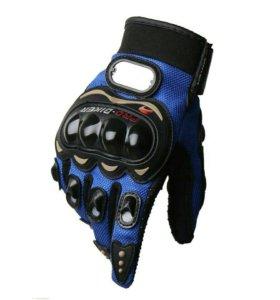 Мото перчатки Синие мотоперчатки