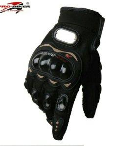 Мото перчатки Чёрные мотоперчатки