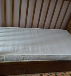 Детская кроватка маятник с ящиком