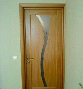 установка дверей, укладка плитки.