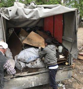 Зачистка участков от мусора.
