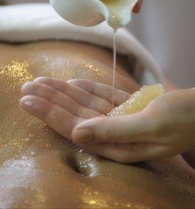Антицеллюлитный массаж мёдом