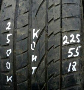 225/55R18 комплект летних шин Континенталь