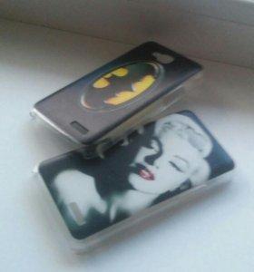 Флип- кейсы на телефон-LG l90 (бэтмена и Мадонны)