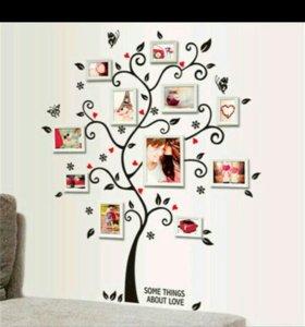Вениловая наклейка семейное дерево.