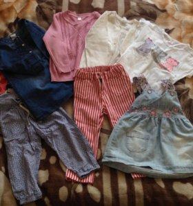 Одежда на девочку 1-2г
