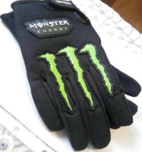 Перчатки для велосипеда Monster (energy) новые