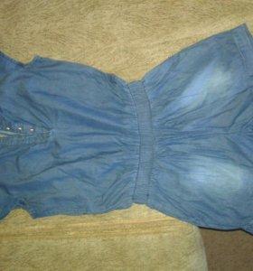 Новый комбинезон джинсовый