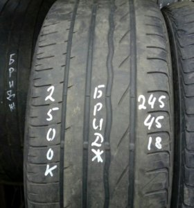 245/45R18 комплект летних шин Бриджстоун