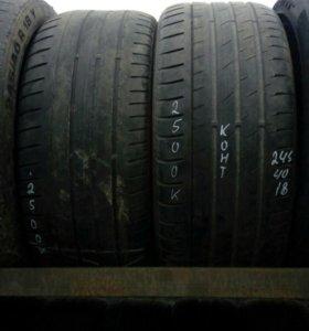 245/40R18 комплект летних шин Континенталь
